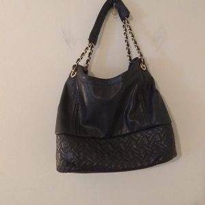 Big Buddha Black PU Bag w/ Chain Strap